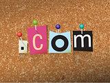 Dot Com Concept Pinned Letters Illustration