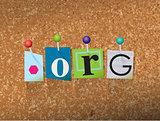 Dot Org Concept Pinned Letters Illustration