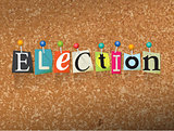 Election Concept Pinned Letters Illustration