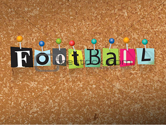 Football Concept Pinned Letters Illustration
