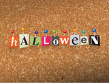 Halloween Concept Pinned Letters Illustration