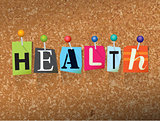 Health Concept Pinned Letters Illustration