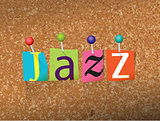 Jazz Concept Pinned Letters Illustration