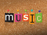 Music Concept Pinned Letters Illustration