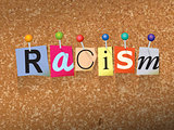 Racism Concept Pinned Letters Illustration