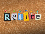 Retire Concept Pinned Letters Illustration