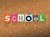 School Concept Pinned Letters Illustration