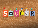 Soccer Concept Pinned Letters Illustration