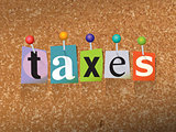 Taxes Concept Pinned Letters Illustration