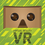Original virtual reality cardboard headset device