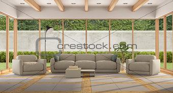 Modern Living room of a holiday villa