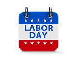 Labor day icon calendar