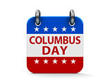 Columbus day icon calendar