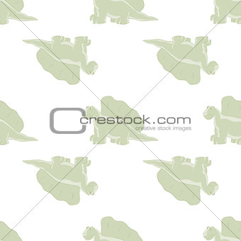ridiculous dinosaurs on a white background