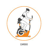 Exercise Bike and Fitness Concept