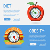 Diet and Obesity Concept