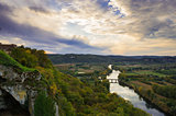 View Over the Dordogne River at Sunset