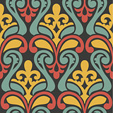 colorful abstract retro seamless geometric pattern