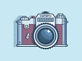 Camera retro flat design
