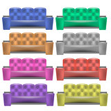Colorful  Leather Comfortable Soft Sofa