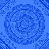 Blue Circle Lace Ornament