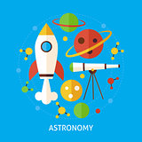 Astronomy Science Flat Vector Concept