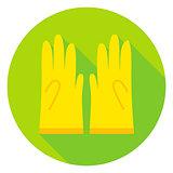 Garden Gloves Circle Icon