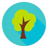 Garden Tree Circle Icon