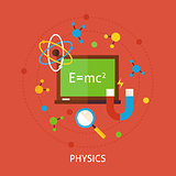Chemistry Science Flat Vector Concept