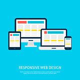 Responsive Web Design Gadgets Flat Concept