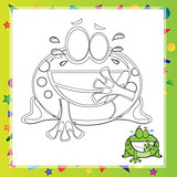 illustration of Cartoon frog