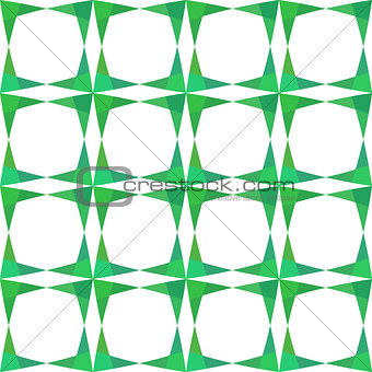 Abstract geometry green seamless pattern.