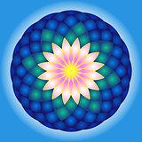 Lotus round mandala.