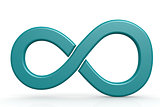 Blue infinity sign on white background