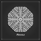 Mandala ornament design, ethnic style
