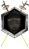Fencing Sport - Metal Hexagonal Symbol