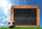 Football Soccer - Empty Blackboard with Ball