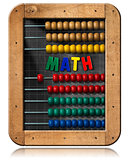 Math - Blackboard with Colorful Abacus