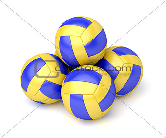 Group of volleyball balls