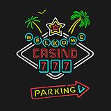 Vector Symbol Neon Casino