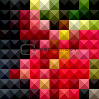 Amaranth Red Abstract Low Polygon Background