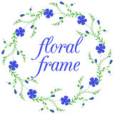 Floral frame, wreath design element