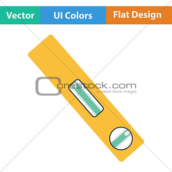 Flat design icon of construction level