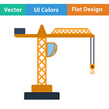 Flat design icon of crane