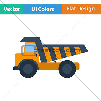 Flat design icon of tipper