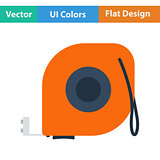 Flat design icon of constriction tape measure