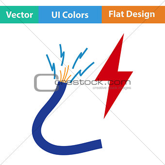Flat design icon of Wire