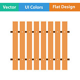 Flat design icon of Construction fence  in ui colors