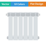 Flat design icon of Radiator