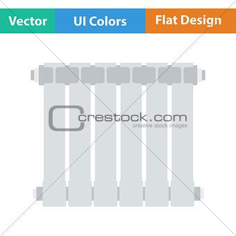 Flat design icon of Radiator
